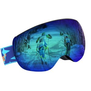Unigear OTG Ski Goggles, Over Glasses Snowboard Snow Spherical Anti-fog Goggles